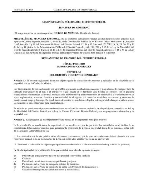 reglamento transito vialidad municipio guadalajara jalisco nuevo reglamento de tr 225 nsito de la ciudad de m 233 xico 2015