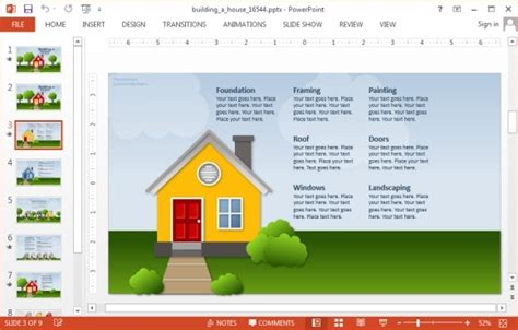 animated building a house powerpoint template