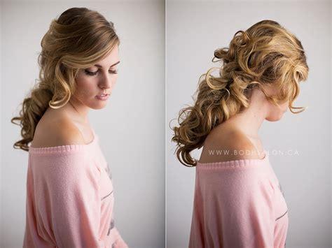 el paso wedding hair bridal hair stylists salons wedding hair guelph curled ponytail 187 bodh salon guelph