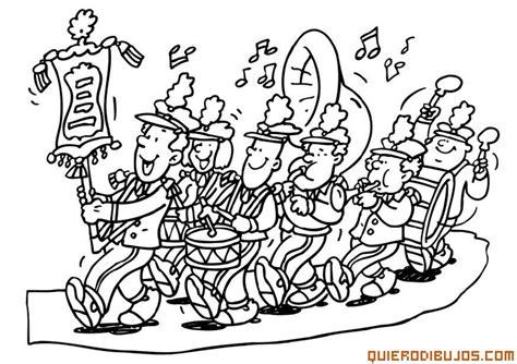 imagenes para pintar musica musica fuente santa banda de m 250 sica para colorear