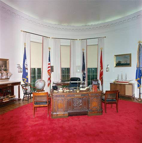 oval office redecoration st c416 9 63 redecorated oval office with president john