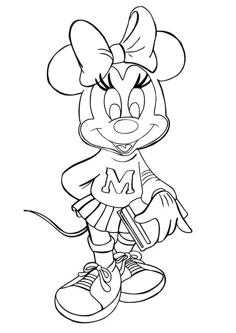 Free Printable Minnie Mouse Coloring Pages For Kids Coloring Page Minnie Mouse