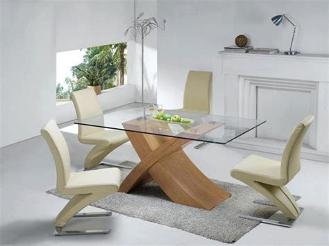 glass and oak dining table buy modern dining room table furniture in fashion