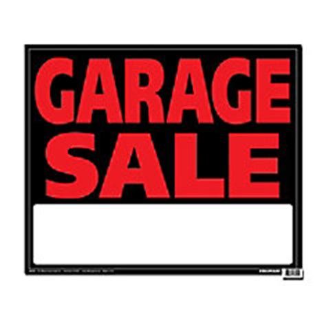 hillman 19 x 24 jumbo sign garage sale the home depot