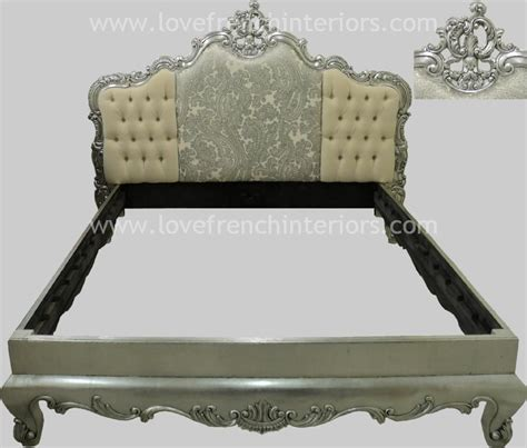 Bed With Padded Headboard by Bespoke Rococo Crested Bed With Padded Headboard