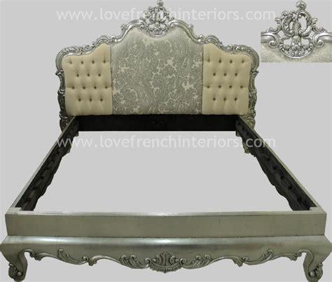 bed with padded headboard bespoke rococo crested bed with triple padded headboard