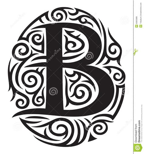 letter b stock vector image of ornate abstract emblem