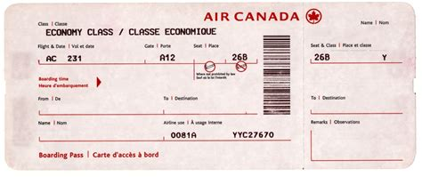 excellent boarding pass air ticket template exle with color and flight information thogati