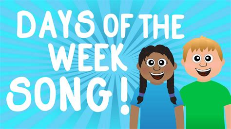 week song learn the 7 days of the week song for learn sunday