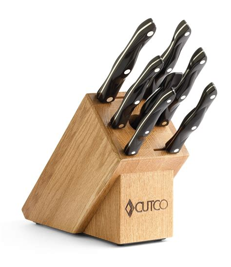 kitchen knives set galley set with block 9 pieces knife block sets by cutco