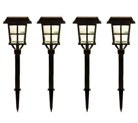 qvc outdoor solar lights alpan set of 4 estate collection solar path lights page