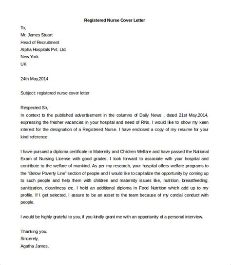 cover letter for registered free cover letter template 52 free word pdf documents