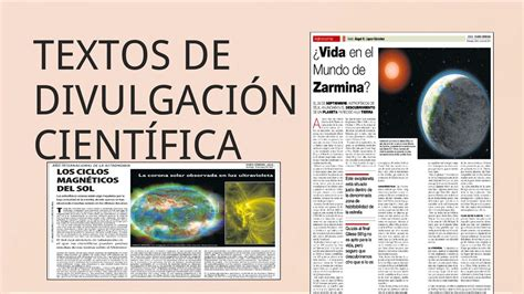 articulos de divulgacion cientifica textos de divulgaci 211 n cient 205 fica