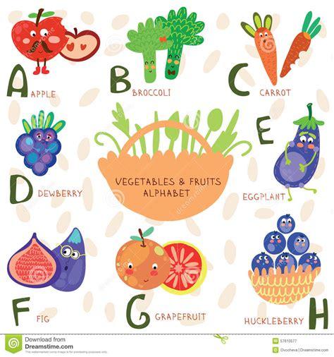 b fruit x alphabet of fruit and vegetables a b c d e