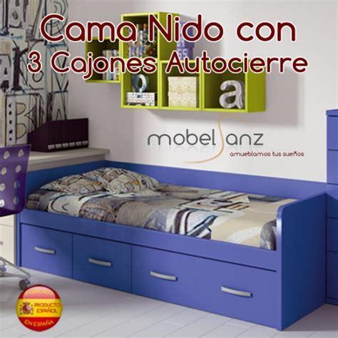 cama nido alta con cajones cama nido juvenil con 3 cajones autocierre