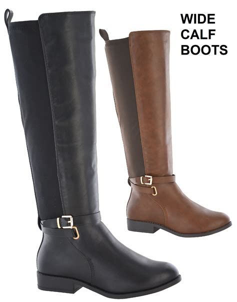 wide width wide calf boots womens elastic stretch wide calf