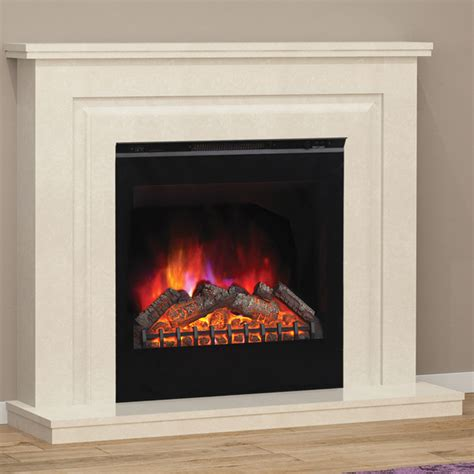 Marble Electric Fireplace Suites by Elgin Mariella Marble Electric Fireplace Suite