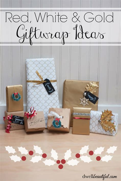 gift and wrap white and gold gift wrapping ideas oh my creative