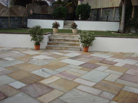 Patio Sandstone by The Gallopes Sandstone Patio Back Garden Greenacres
