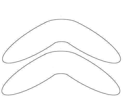 australian boomerang template boomerang template free to use printables