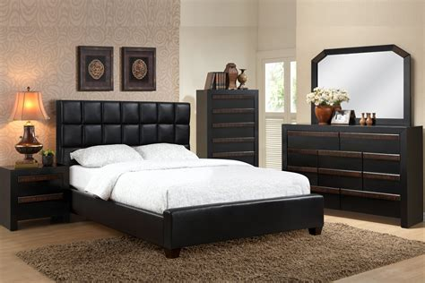 Black Leather Bedroom Set by Black Leather Bedroom Sets Photos And