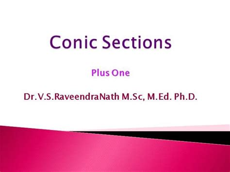 conic sections ppt conic sections 1 authorstream