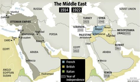mideast map 1914 the middle east after world war i