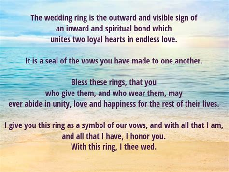 Wedding Vows Rings by Exchange Of Vows And Rings Spininc Rings