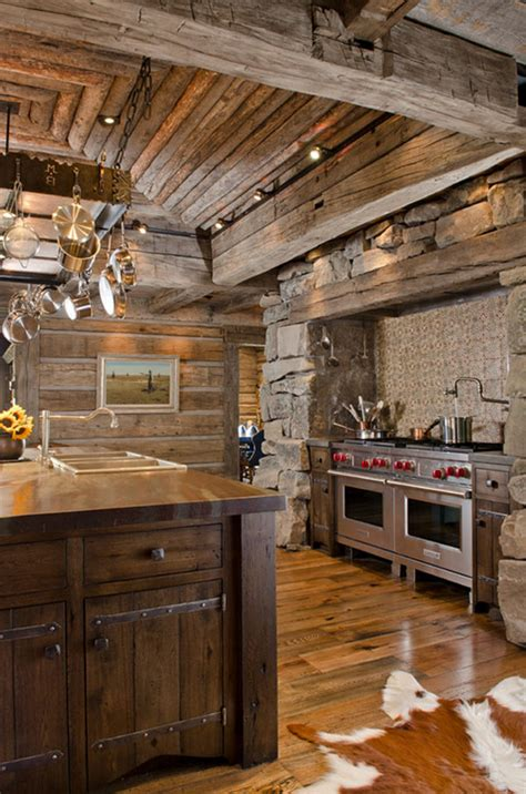 rustic cabin kitchen cabinets 53 sensationally rustic kitchens in mountain homes