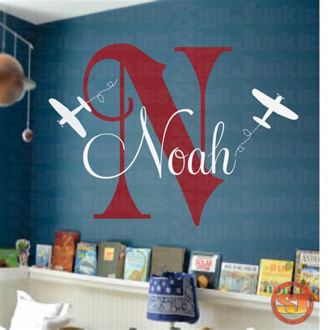 airplane wall decals for nursery airplane wall decal personalized airplane nursery airplane