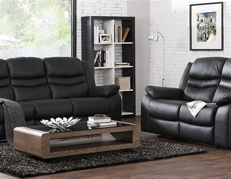 leather sofas 3 2 1 contour midnight black reclining 3 2 1 seater leather