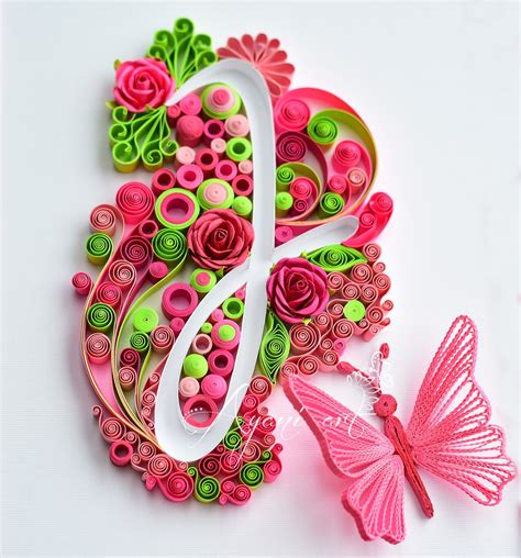 typography quilling ayani quilling typography quilling j letter