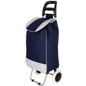 Navy folding wheeled grocery cart shopping trolley bag preview