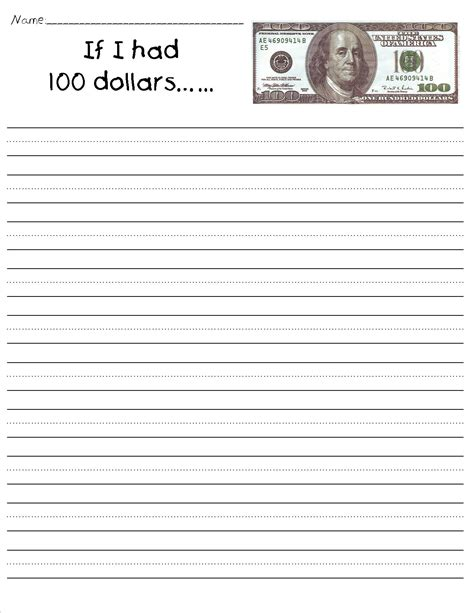 100th day writing paper 100th day of school worksheets and printouts