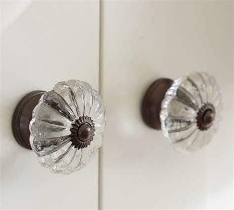Pottery Barn Knobs by Pottery Barn Vintage Glass Knobs Glass Knobs