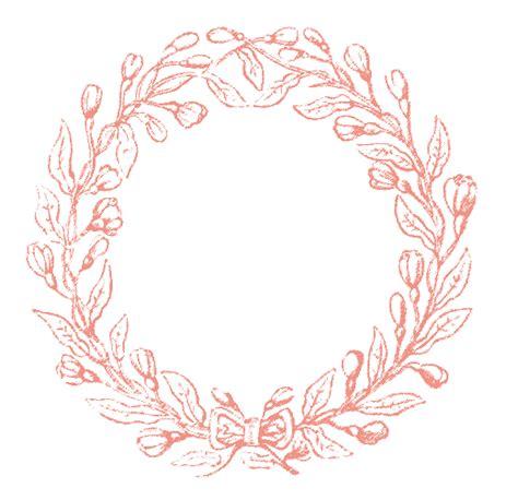 pink clip art vintage clip art lovely delicate wreath frames the