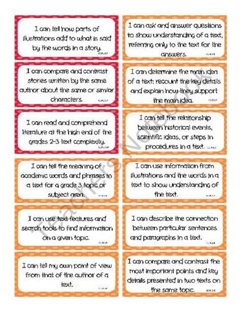 printable common core learning targets 18 best images about i can statements on pinterest