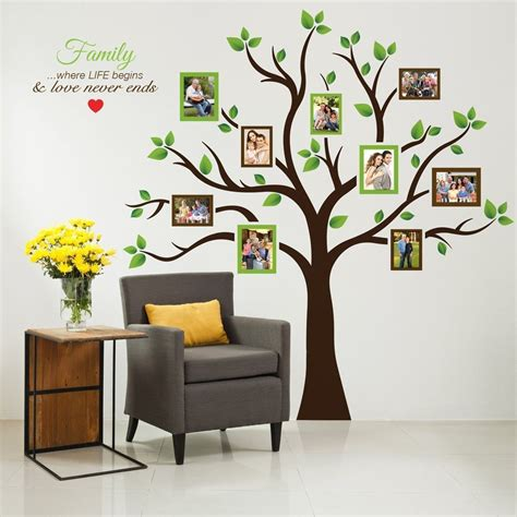 home decals for decoration wall photo tree family frame large decor sticker art home