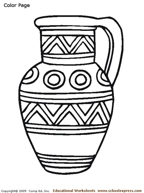 coloring pages for vase vase coloring page printable vase coloring page 539x720px