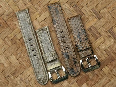 Kulit 22mm 24mm dayan s day for sale genuine snake leather panerai
