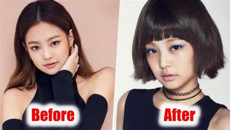 blackpink plastic surgery omg black pink jennie dramatic change her hairstyle youtube