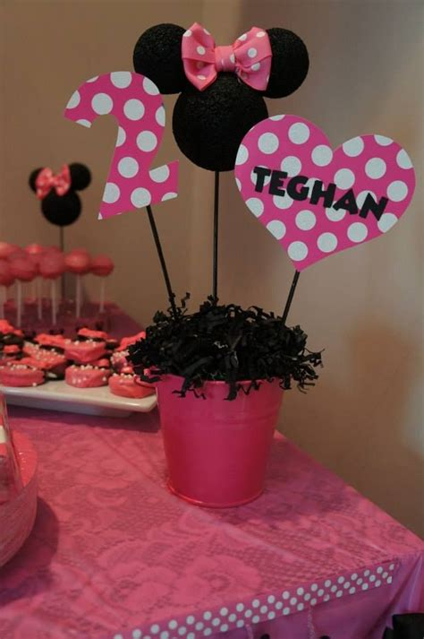 Minnie Mouse St Birthday Decorations by Minnie Mouse Birthday Ideas Creative Ideas