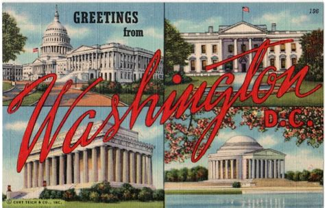 vintage washington d c postcard greetings from washington