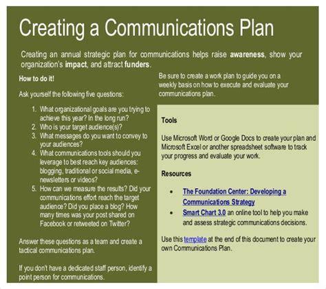 communication strategy template 11 communication strategy templates free sle