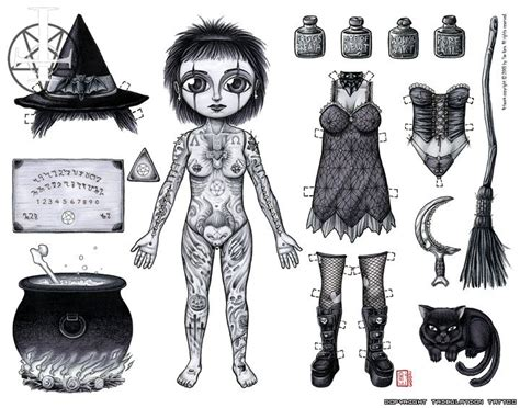 tattoo paper dolls 47 best paperdoll halloween images on pinterest
