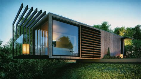 bradley designs cantilevered shipping container office