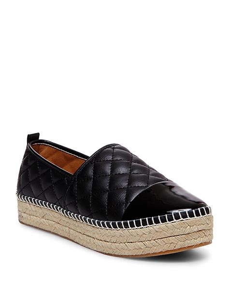 quilted platform sneakers steve madden palamo quilted espadrille platform sneakers