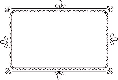 free frames free clip brushes digital frames with scalloped