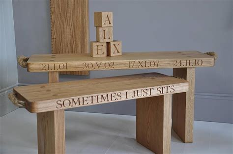 personalised garden bench personalised solid oak bench by the oak rope company notonthehighstreet com
