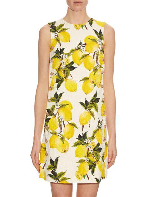 Dres Emon dolce gabbana lemon print floral brocade embellished